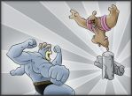 Machamp Vs. Conkeldurr by vibrantrobot