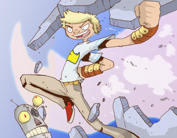 Battling Boy R-Type by SolomonMars