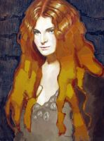 redheaded woman by pedraxas