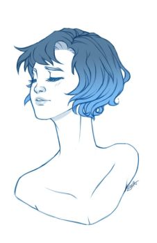 Ami in Blue by shinigamiwings