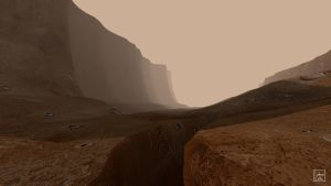Blender - Mars canyon 01 by Ludo38