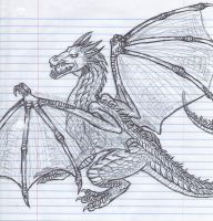Dragon Sketch by PiuPiu-Littlebird