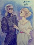 Mandos and Vaire from the Silmarillion by julia94s