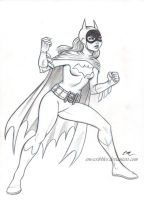 Batgirl Sketch Commission by em-scribbles