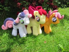 Cutie Mark Crusaders by NerdyKnitterDesigns