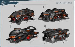 Phinyx- Rugged Evac Ship sketch by Loone-Wolf