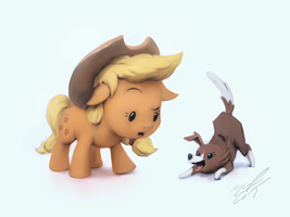 Small couple of apples by AssasinMonkey