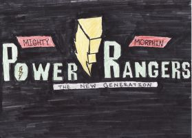 MMPR: TNG Updated Logo by Jred20
