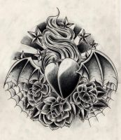 black n grey heart by WillemXSM