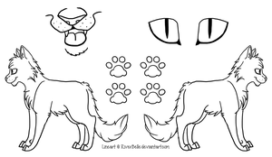 Cat Reference Sheet (PNG Version) by RiverBelle