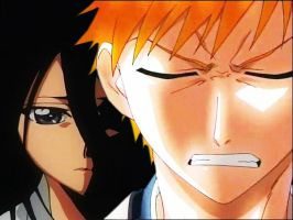 Bleach Ichigo and Rukia by sokkiej