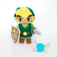 Link, from Zelda. Crochet Amigurumi Plush Doll by CyanRoseCreations
