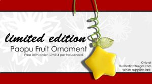 Paopu Fruit Ornament by OurDestinyDesigns