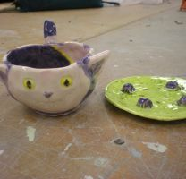 Cheshire teacup Finished by DaineBloohAiraSatake