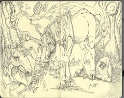 Moleskin Unicorns by sighthoundlady