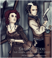 Sweeney and Lovett by Eilyn-Chan