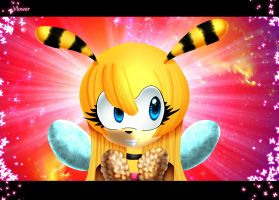 Saffron bee by vlower