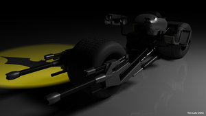Maya 3D model - The Dark Knight 'Batpod' #2 by RiseOfChaos