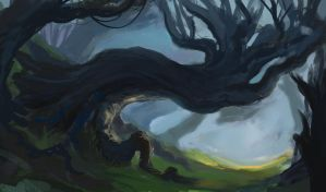Forest Sketch by TylerJustice