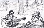 Shane and Mark - open air jam by thecymbalwench