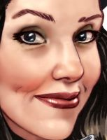 Zatanna face detail by TheRogueSPiDER