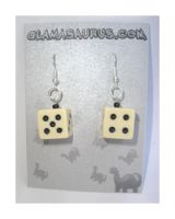 High Roller Dice Earrings by AndyGlamasaurus