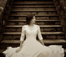 The White dress by Jacinta-Lee