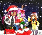 -Merry Christmas 2015- Lady, Raisa and Ran by Lady2011