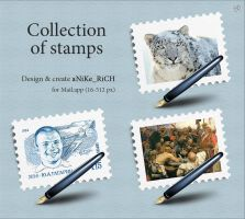 Collection of stamps by anike-rich