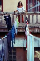 drying clothes by NataliaCiobanu
