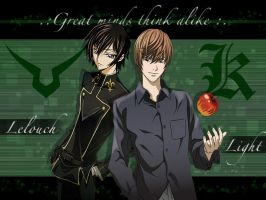 Lelouch and Light Wallpaper by ps-its-Jess