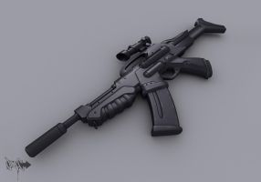 AR-41 Assault Rifle model by Cyclodextrose