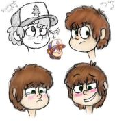 Dipper Pines - Colored by SilverShadowJynx