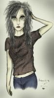 Some Emo Scene chick -coloured by SpicedMoonDust