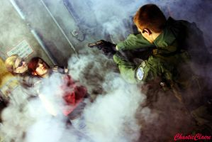 Let her go, Wesker! - CODE: Veronica X Cosplay by ChaoticClaire