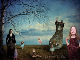 There was an old woman who lived in a shoe by PattiPix