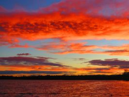 Sunset over Aktinson Dam by Lady-Elementtra