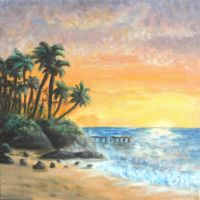 Hawaii Beach Sunset by Jon-Jen