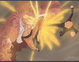 Black Leg vs. Heavenly Demon ~~ !! by Shinsekai94