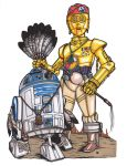 Rebel Alliance Code Talkers R2D2 and C3PO by daledriven