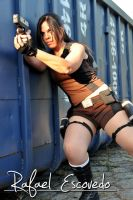 Miss Croft in action by Jessie-TR