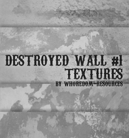 Destroyed wall textures No.1 by whoredom-resources