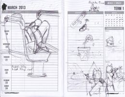 Diary Drawings and Stuff by polkovniknades