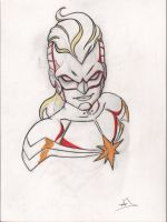 2013 Sketches CaptainMarvel by Djoyce13
