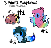 3 Points Adoptables(close) by PrePAWSterous