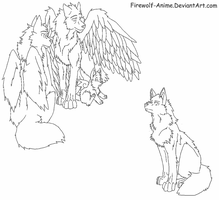 Request - Fallon Lineart by Firewolf-Anime
