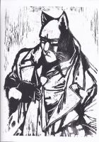 Blacksad Wood Print by CZProductions