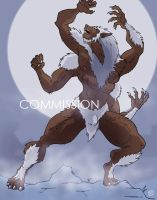Four arms werewolf by KaijuKaiser