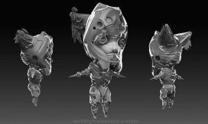 Chibi 3D, warmup session. by sergiosoares