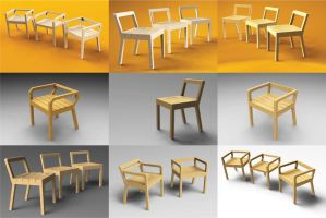 Wooden Chair by Usayed